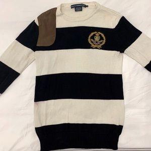 Ralph Lauren Sport hunting style striped sweater